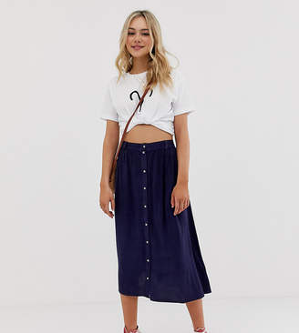 Wednesday's Girl midi skirt in denim
