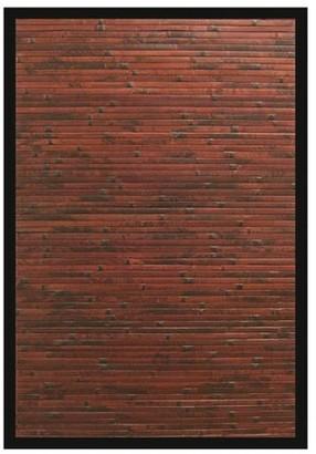 Anji Cobblestone Mahogany Bamboo Rug 7'x10'