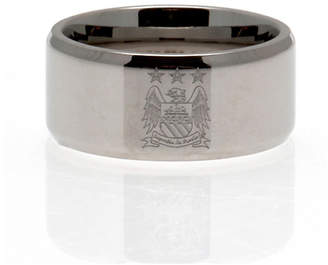 Manchester City Stainless Steel Man City Ring - Size R