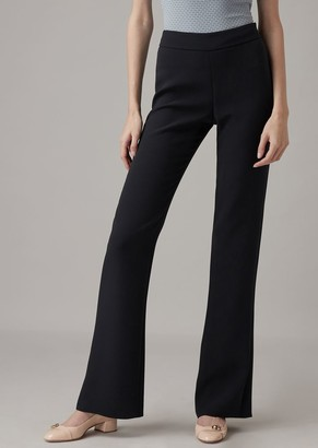 Giorgio Armani Pure Silk Crepe Palazzo Trousers