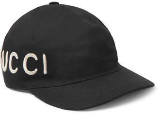 Gucci Embroidered Cotton-Twill Baseball Cap - Black