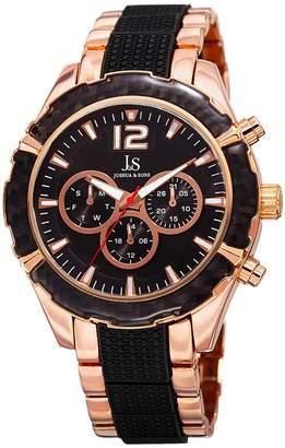 Joshua & Sons Men's Swiss Quartz Multifunction Dual-Time Watch, 47mm