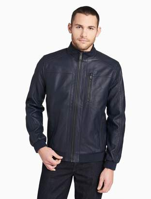 Calvin Klein smooth 3-pocket moto jacket