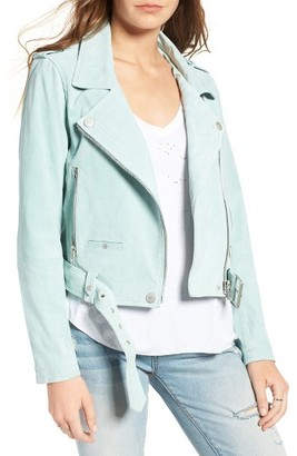 Women's Blanknyc Morning Suede Moto Jacket $188 thestylecure.com