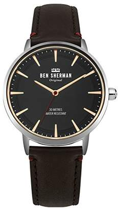 Ben Sherman Men's 'Portobello' Quartz Silver-Tone and Leather Casual Watch