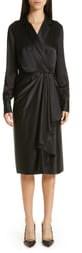Jason Wu Collection Surplice Silk Charmeuse Dress