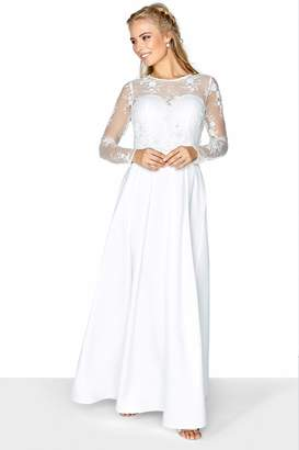 Little Mistress Lace Overlay Bridal Dress