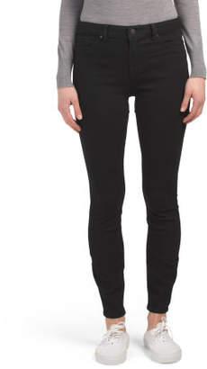 High Waist Back Flap Pocket Skinny Jeans