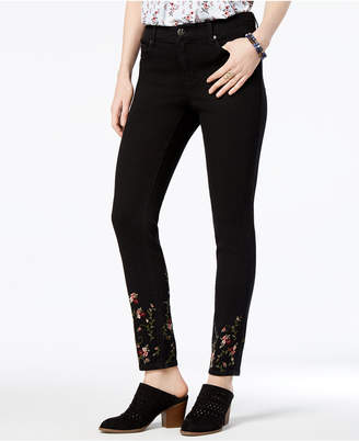 Style&Co. Style & Co Petite Embroidered Skinny Jeans, Created for Macy's