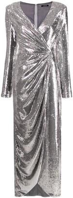 P.A.R.O.S.H. asymmetric long-sleeve dress