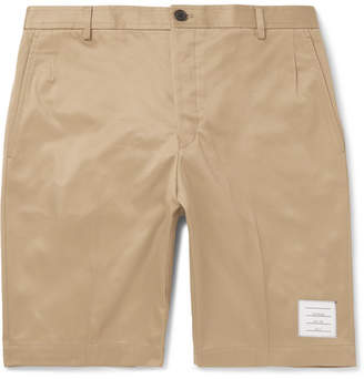 Thom Browne Slim-Fit Cotton-Twill Shorts - Camel