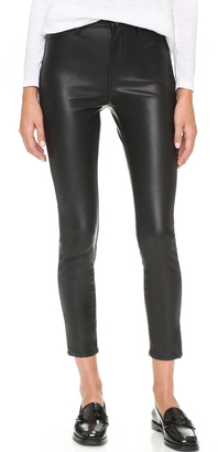 Blank Denim The Principle Mid Rise Vegan Leather Skinny Pants $98 thestylecure.com