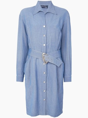 Thierry Mugler Pre-Owned Western shirt dress