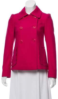 RED Valentino Wool-Blend Double-Breasted Coat