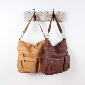 The Leather Store Brooke Leather Pocket Shoulder Bag