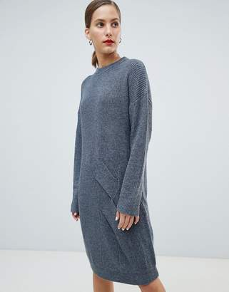 NATIVE YOUTH Twist Knit Slouchy Sweater Dress