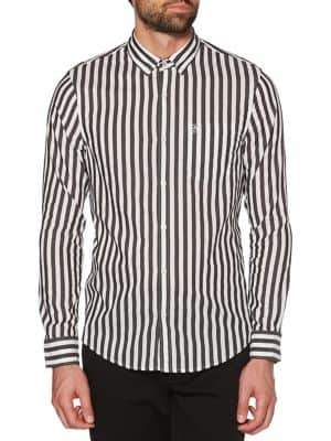 Original Penguin Two-Tone Vertical Striped Button-Down Shirt