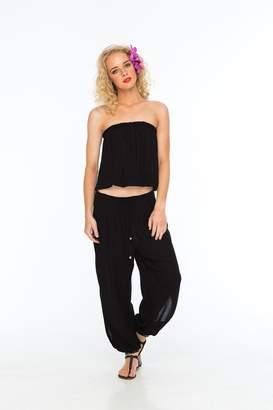 Indah Alligator Black Pants