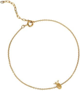 Lee Renee Pineapple Bracelet Gold Vermeil
