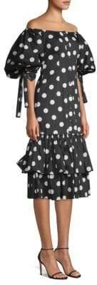 Nella Polka Dot Midi Dress