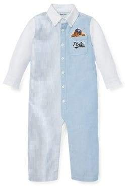Ralph Lauren Childrenswear Baby Boy's Polo Bear Cotton Coveralls