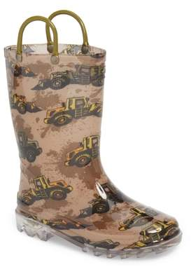 Western Chief Busy Bulldozer Light-Up Rain Boot