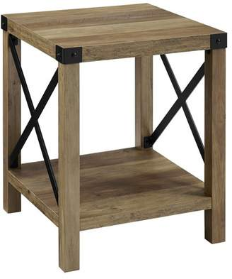 Walker Edison 18 Urban Industrial Metal X Accent Side Table