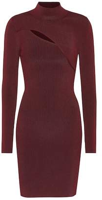 Thierry Mugler Ribbed knit cutout dress