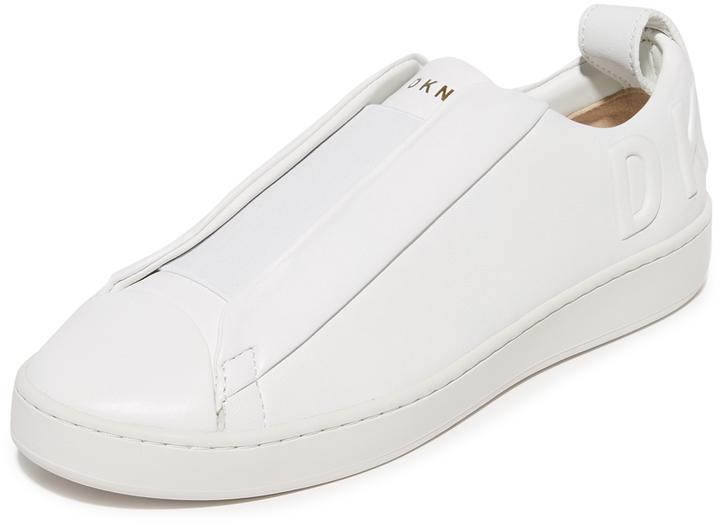 DKNY Brayden Luxe Debossed Slip On Sneakers