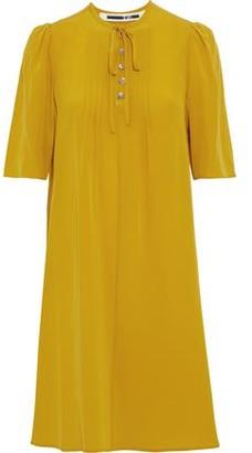 McQ Bow-Detailed Silk Crepe De Chine Dress