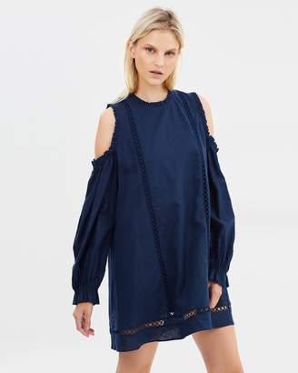 Nina Linen Cotton Lace Dress