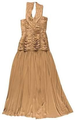 Oscar de la Renta Sleeveless Ruched Gown