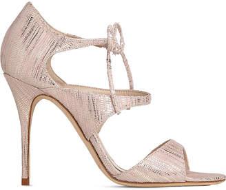 LK Bennett Karlie snake-effect leather sandals