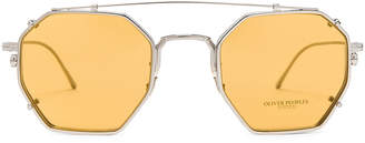 Oliver Peoples Assouline in Silver w/ Mustard | FWRD