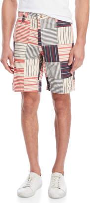 Tailor Vintage Stripe Patchwork Shorts
