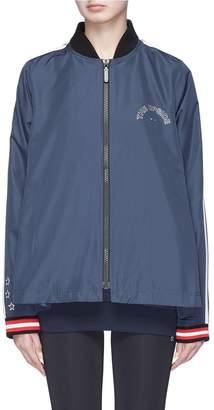 The Upside 'Ash' star embroidered stripe sleeve flare back jacket