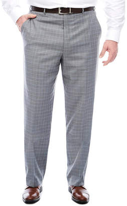 F&F STAFFORD STF Travel Stretch Grey Blue Plaid FF Pants BT