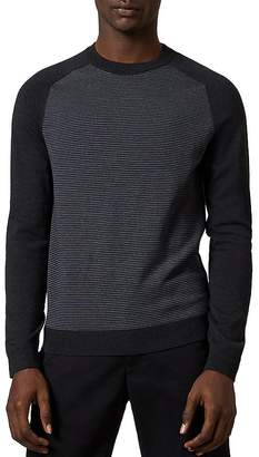 Ted Baker Topup Long-Sleeve Striped Crewneck Sweater