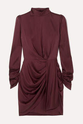 Zimmermann Draped Silk-blend Mini Dress - Brown