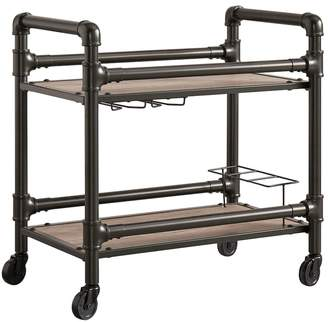 Homevance HomeVance Rovan Rustic Industrial Bar Cart