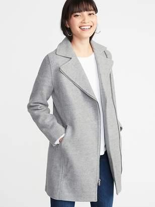 Old Navy Soft-Brushed Long-Line Moto Coat for Women