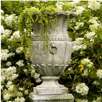 Orlandi Statuary OrlandiStatuary Fiberstone Urn Planter Drain Opening: No