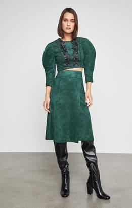 BCBGMAXAZRIA Faux Suede A-Line Skirt