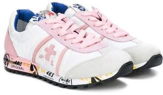 Premiata Kids embroidered sneakers