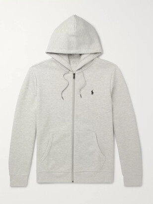 Polo Ralph Lauren Melange Jersey Zip-Up Hoodie - Men - Gray