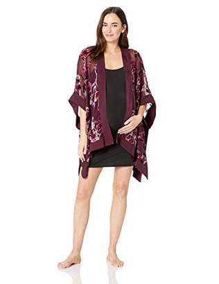 Motherhood Maternity Women's Maternity Velvet Burnout Bed Jacket