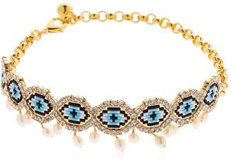 Shourouk Eye Beaded Choker W/ Pearls