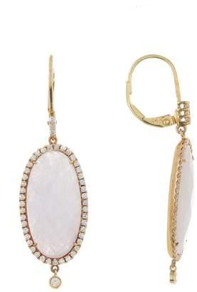 Meira T 14K Yellow Gold Purple Jade & Diamond Dangle Earrings