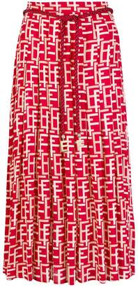 Elisabetta Franchi geometric printed pleated skirt