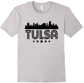 Tulsa Oklahoma Skyline Retro Style T-Shirt